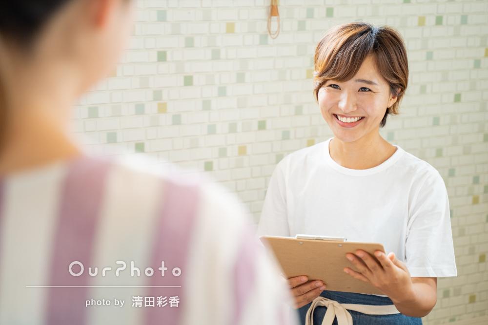 「話しやすいので楽しく撮影」ビジネス用プロフィール写真の撮影