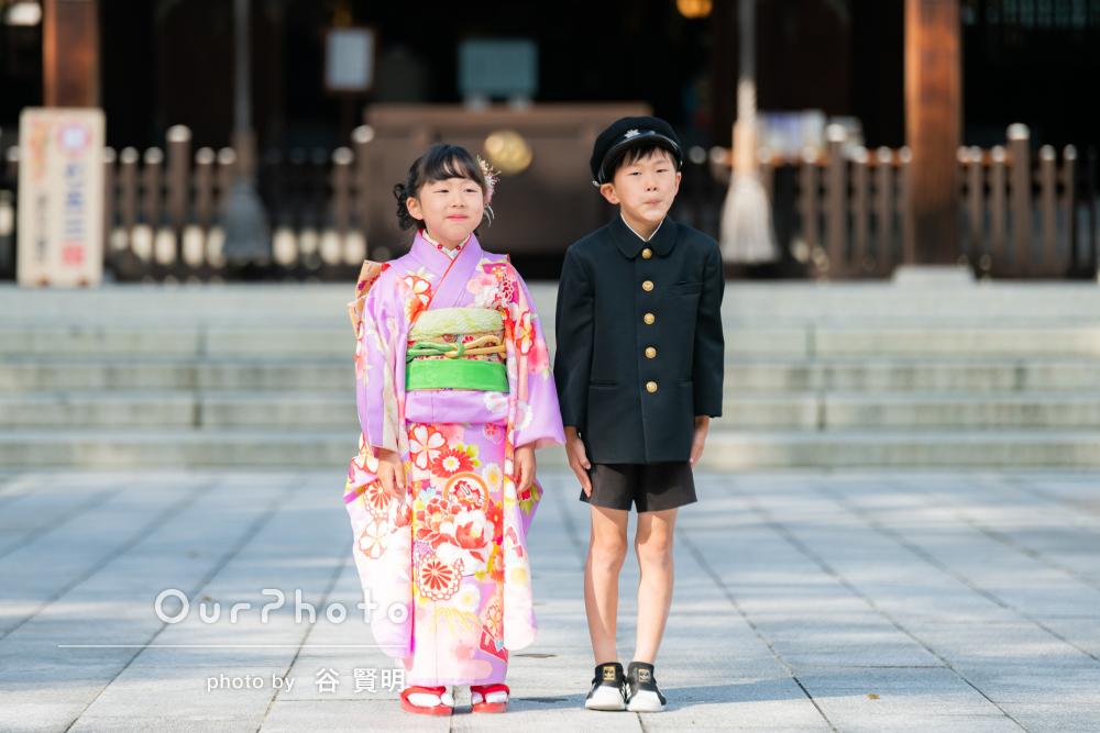 「いい記念になりました」ママも和装で華やかに!7歳の七五三詣りの撮影