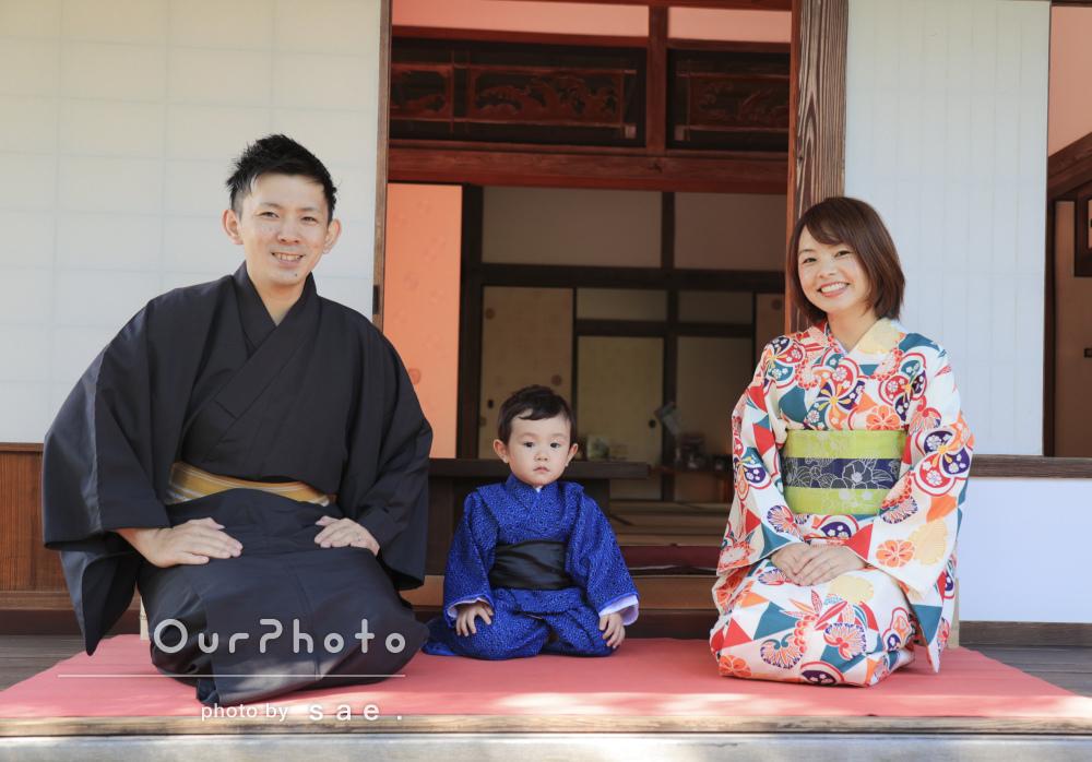 「スムーズに撮影してもらい」3人揃って和装で素敵!家族写真の撮影