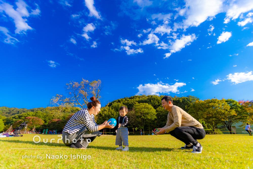 「日常ではなかなか自然な写真が撮れないので」かなりの満足感!家族写真