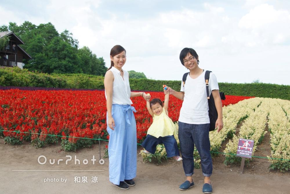 「子どもの2歳の誕生日の記念写真」を撮影してほしい!家族写真の撮影