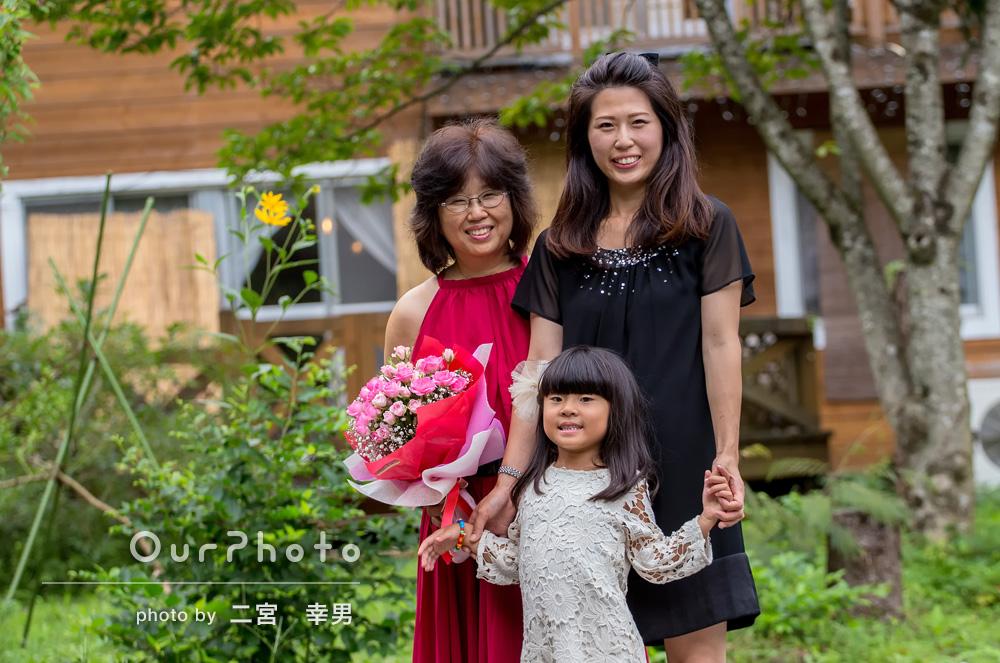 「とても素敵な写真を沢山撮っていただきました」還暦のお祝いに家族写真