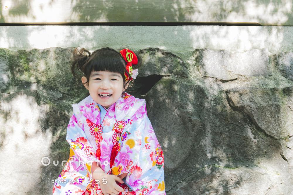 「子供達にも接し方が上手く」パステルカラーの着物で3歳の七五三撮影