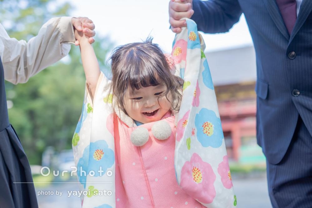 「娘の色んな表情を撮りたいという想いが嬉しかった」3歳の七五三の撮影