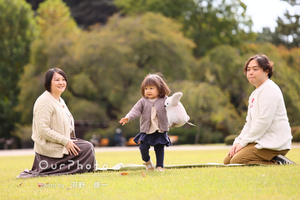 「素敵な写真を撮って下さりありがとう」笑顔が輝く家族写真の撮影