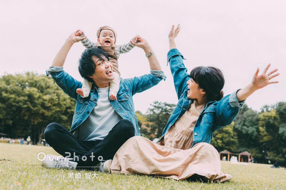 「お気に入りの写真を数え切れないほど」色合いが素敵な家族写真の撮影
