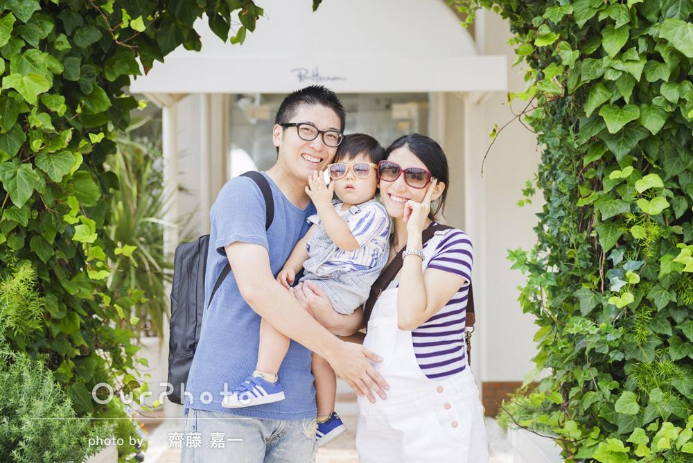 「夏」らしい家族写真