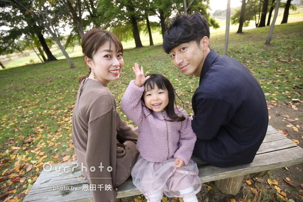 「自然な笑顔をたくさん」楽しさが伝わる公園での家族写真の撮影