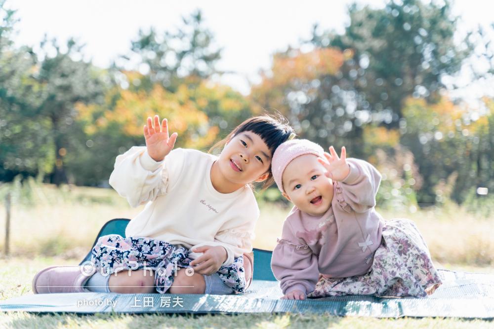 「あっという間の撮影時間でした!!」公園で家族のお出かけ写真撮影
