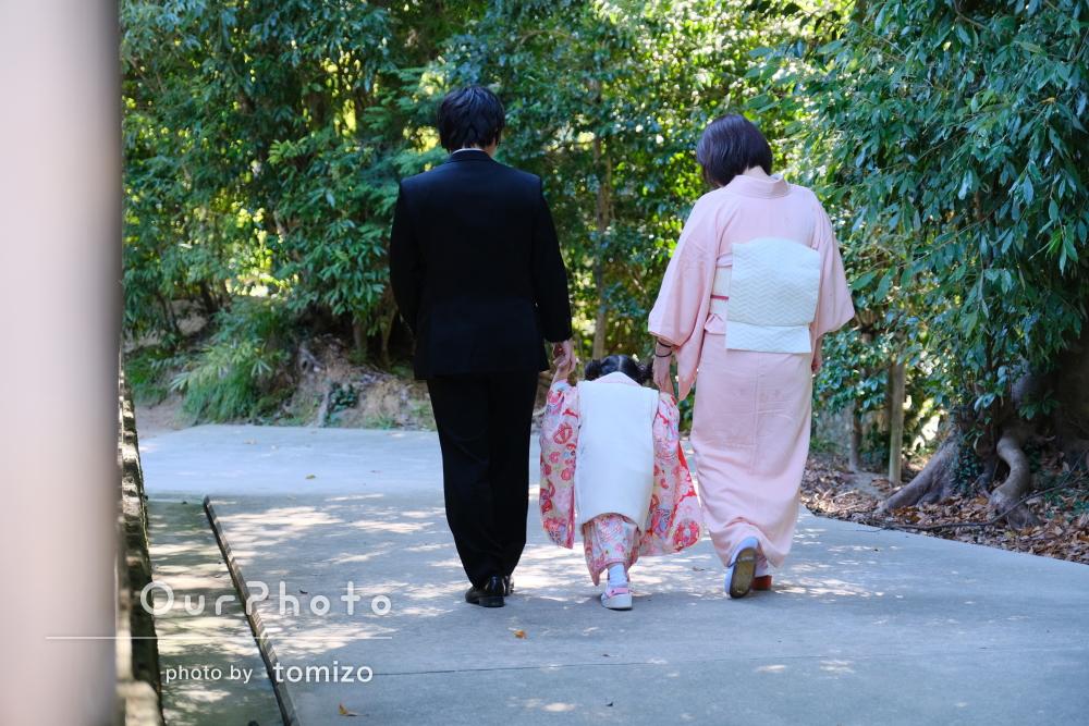 「家族揃って写真を撮ることができ素敵な思い出になり」七五三写真の撮影
