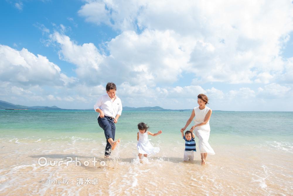 「2人の様子をみながらスムーズに楽しく」誕生日の記念に家族写真の撮影