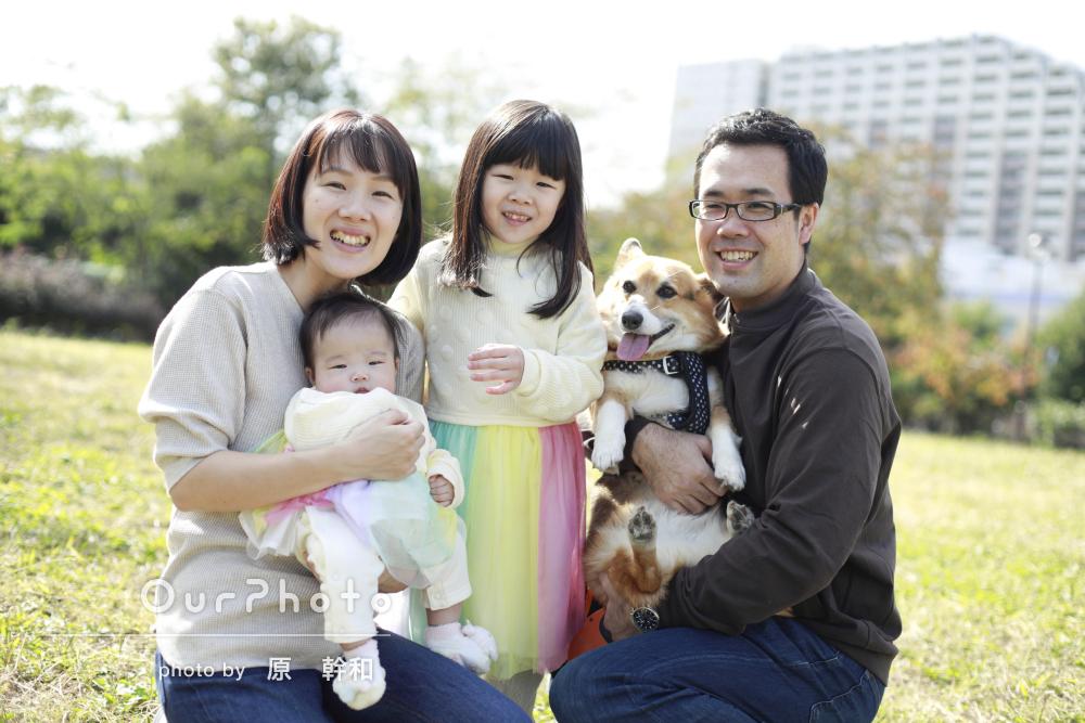 「希望通りの素敵な写真を撮っていただけました」家族写真の撮影
