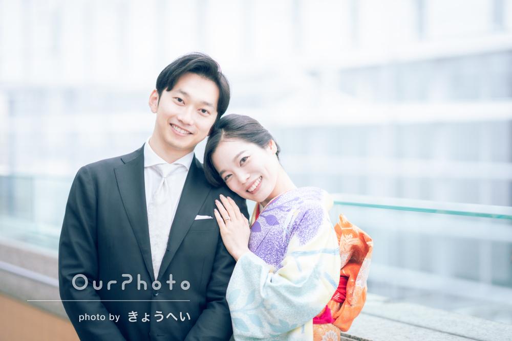 「とっても素敵な仕上がり」婚約記念のカップルフォト撮影