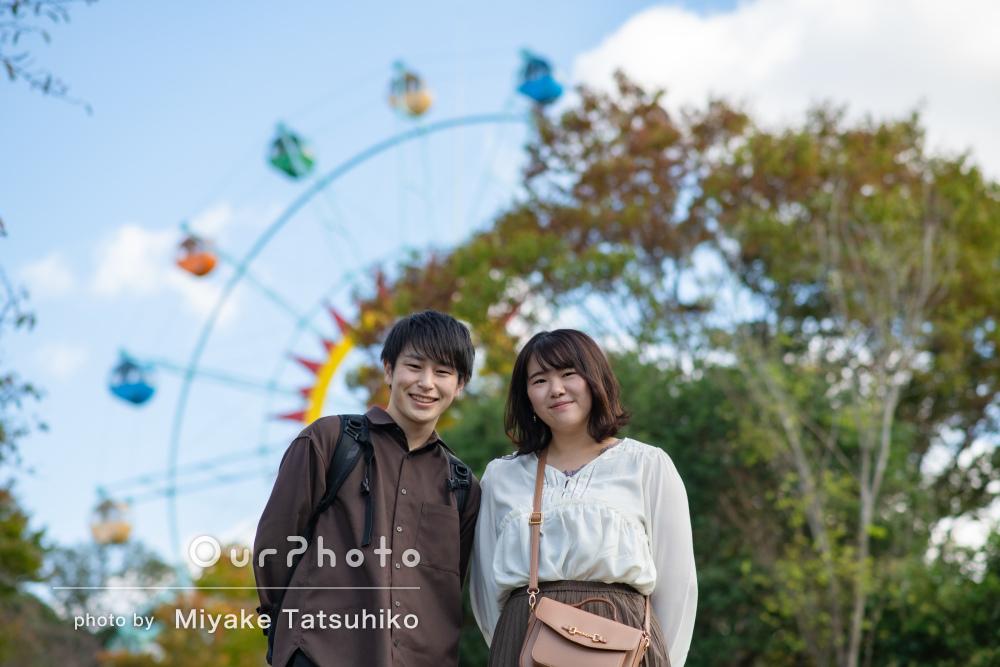 「撮影楽しかったです!!」幸せいっぱいの笑顔でカップル写真の撮影