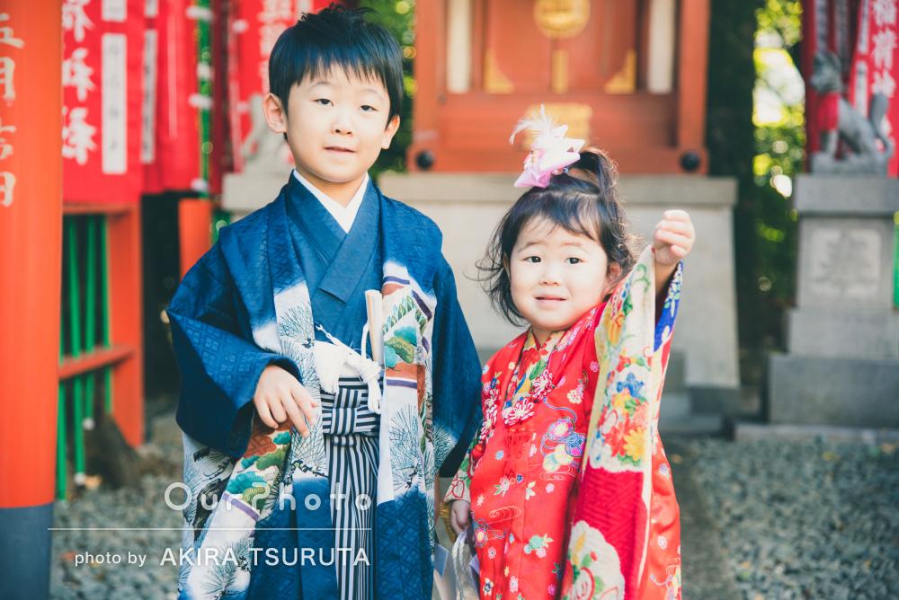 「ひとコマひとコマを大切に捉えて」5歳3歳の兄妹の七五三記念撮影