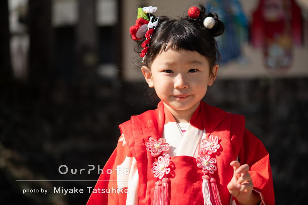 「娘が成長した時に見返しても喜んでもらえる」3歳の七五三の撮影