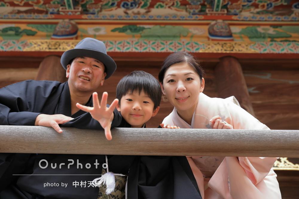 「丁寧に一枚一枚撮影していただきました」親子で和装の七五三詣りの撮影