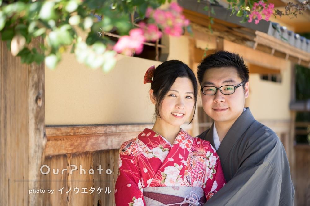 「日本らしい京都の街中を着物を着て散策するので撮ってほしい」海外からのお客様!カップル旅行写真の撮影