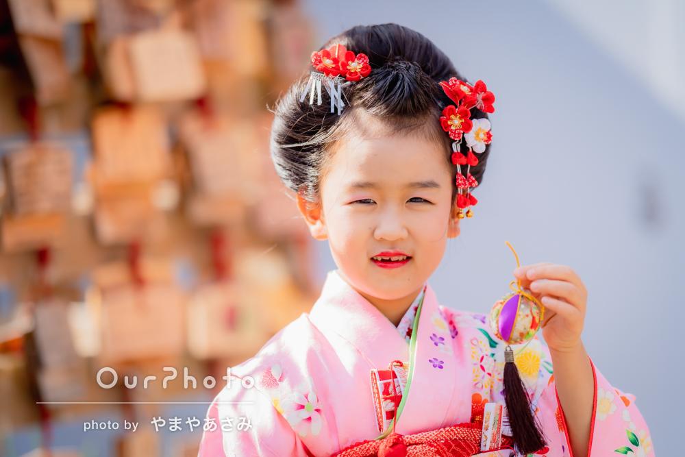 「とても楽しい雰囲気で写真が撮れて」日本髪で7歳の七五三の撮影