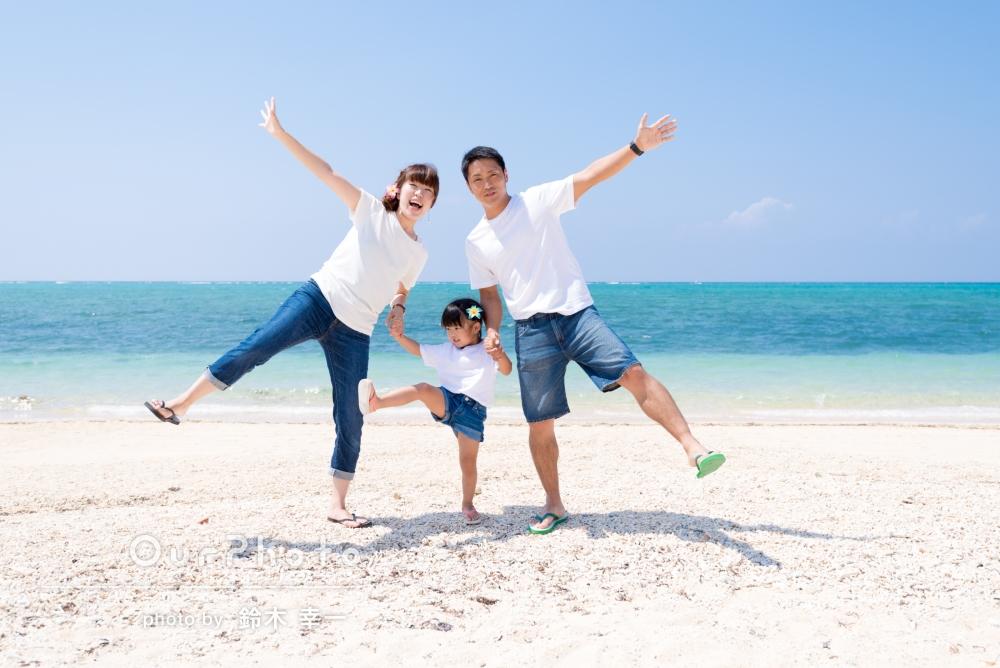 「とても喋りやすく子どもにも気を配って頂いて、楽しくスムーズに撮影する事が出来ました。」沖縄で、家族写真の撮影