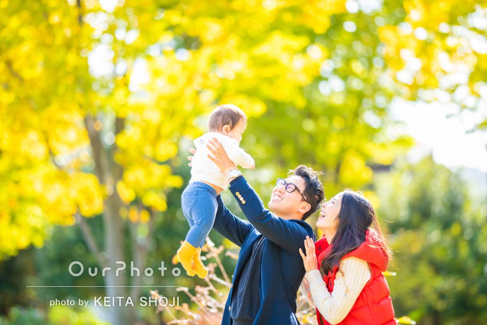 「写真も希望のテイストに合わせていただき」年賀状用に家族写真の撮影