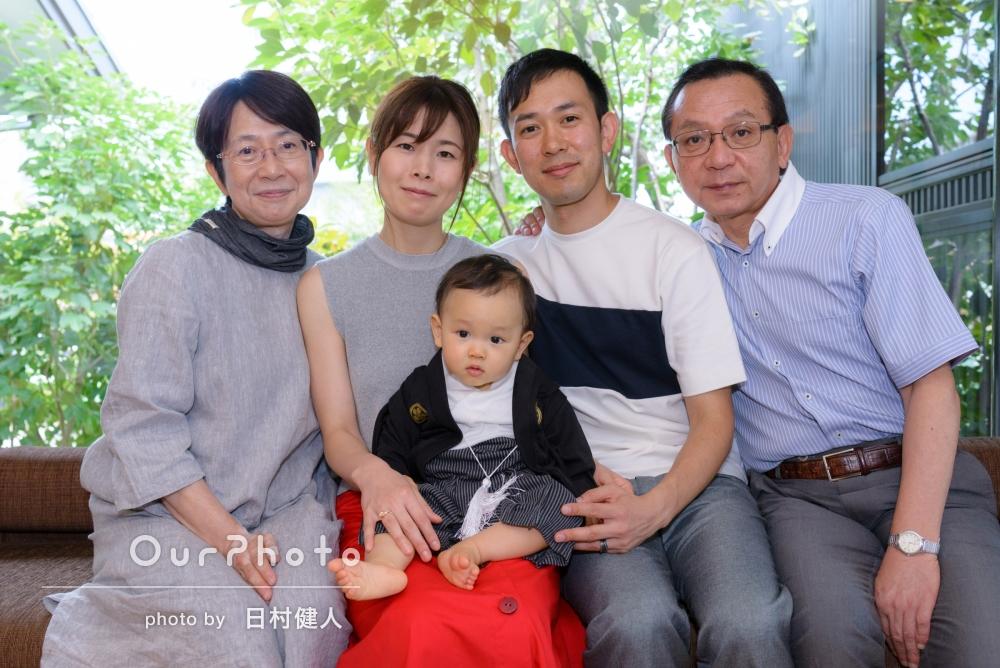 「とても良い思い出が出来ました」1歳になるお子様の誕生日記念に家族写真の撮影