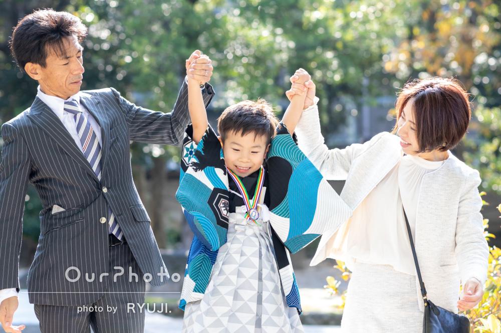 「我が子らしい写真を沢山撮っていただき大満足」5歳の七五三の撮影