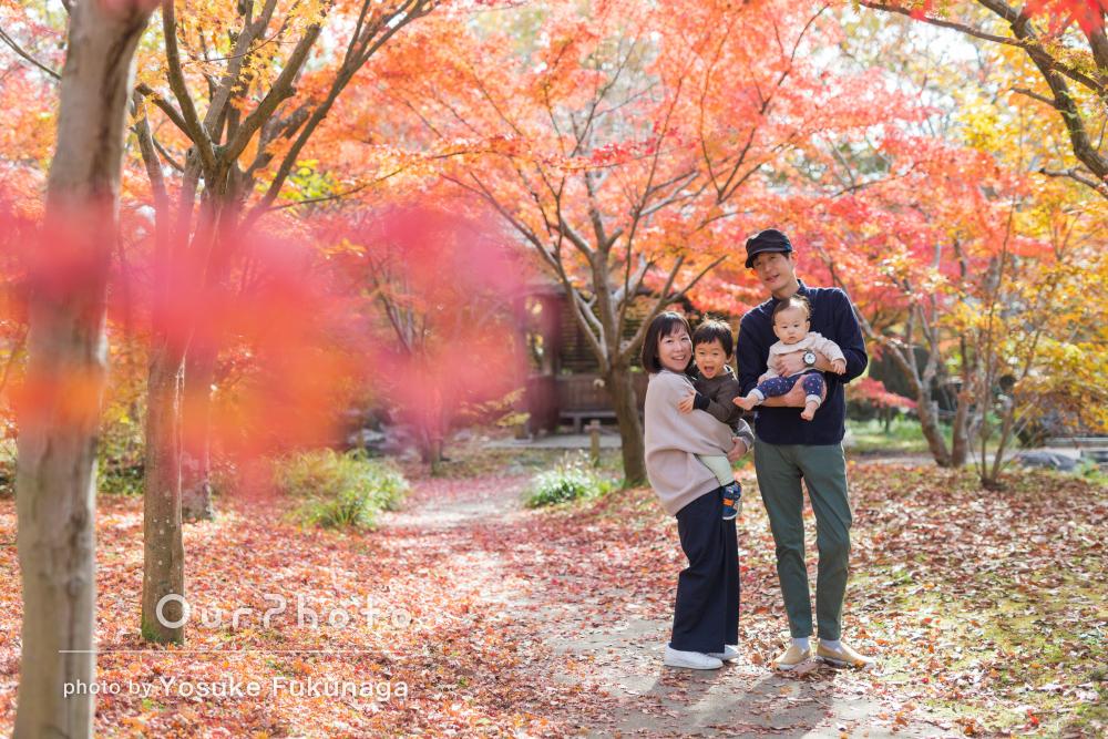 「写真の仕上がり共にかなり満足です」生後8ヶ月の家族写真の撮影