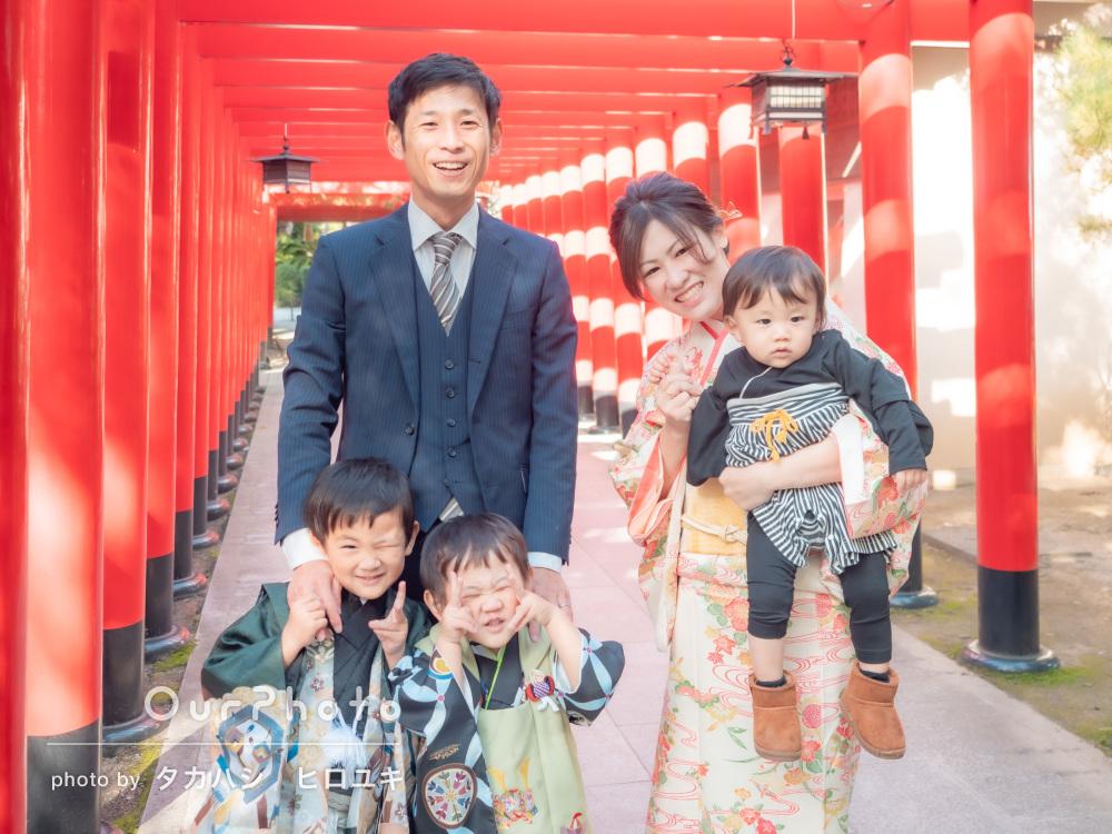 「子どもたちも楽しめる雰囲気で撮影してくださり」七五三写真の撮影