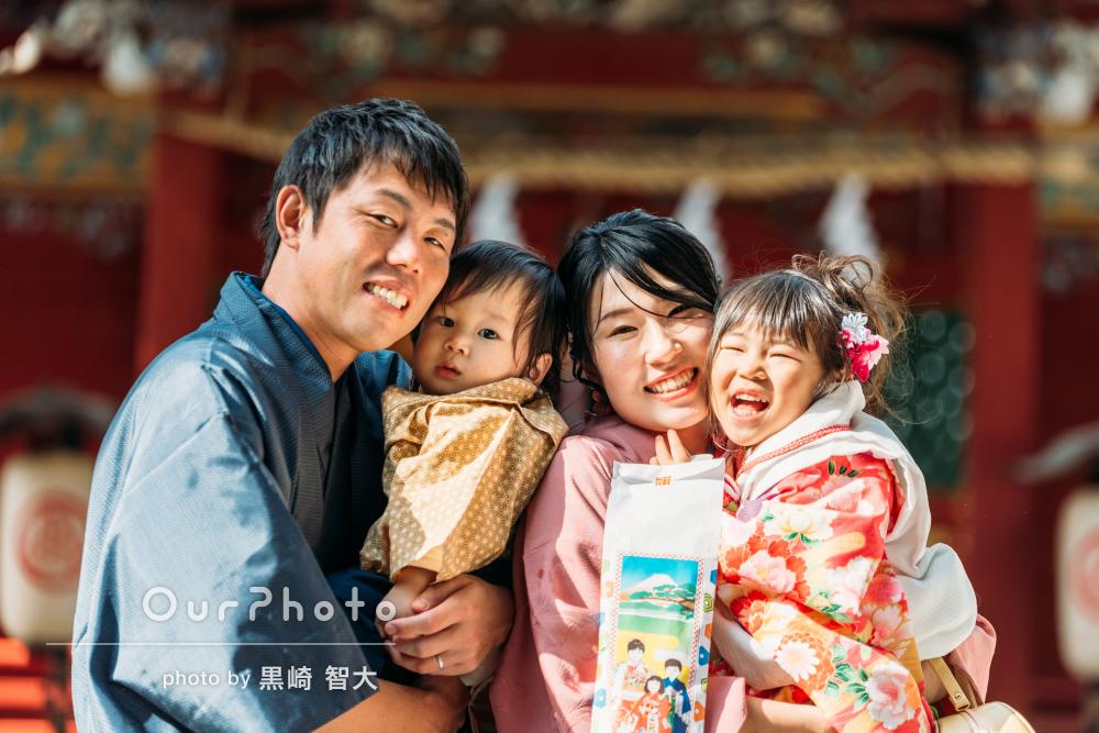 「大切な一日を、素晴らしい時間に」家族全員お着物で3歳の七五三撮影