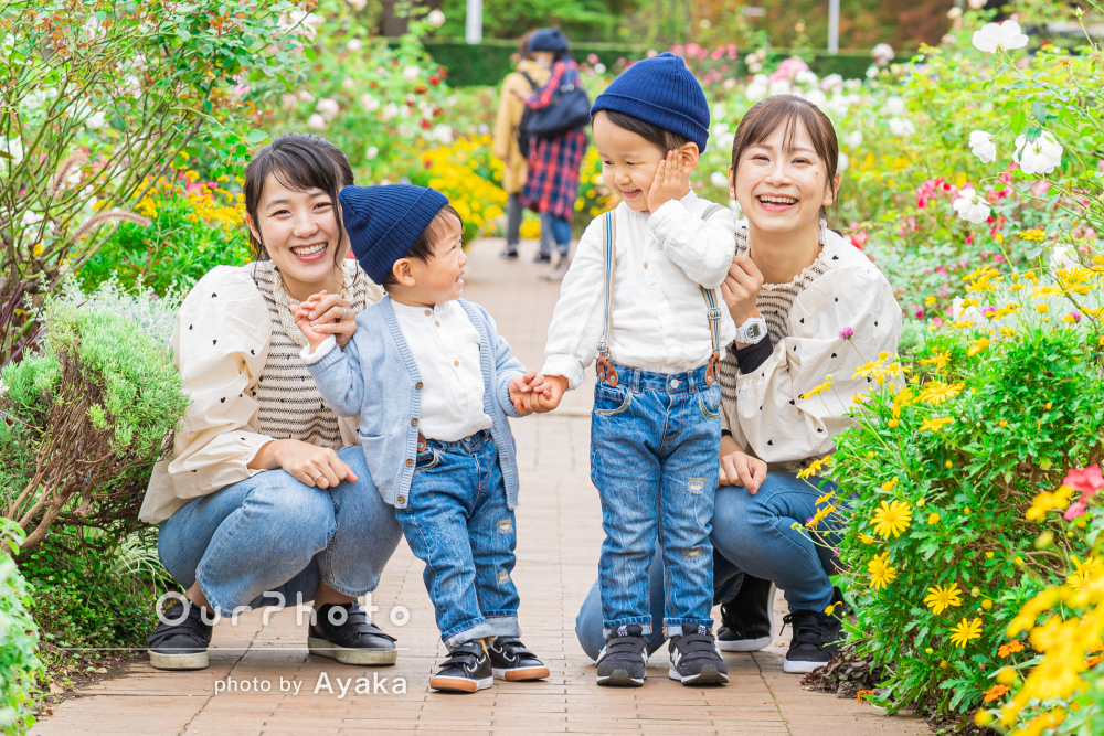 「優しく丁寧で、あやすように上手く撮って頂けました」家族写真の撮影