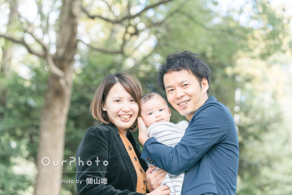 小さな新しい家族への愛おしさがあふれるお宮参りの撮影