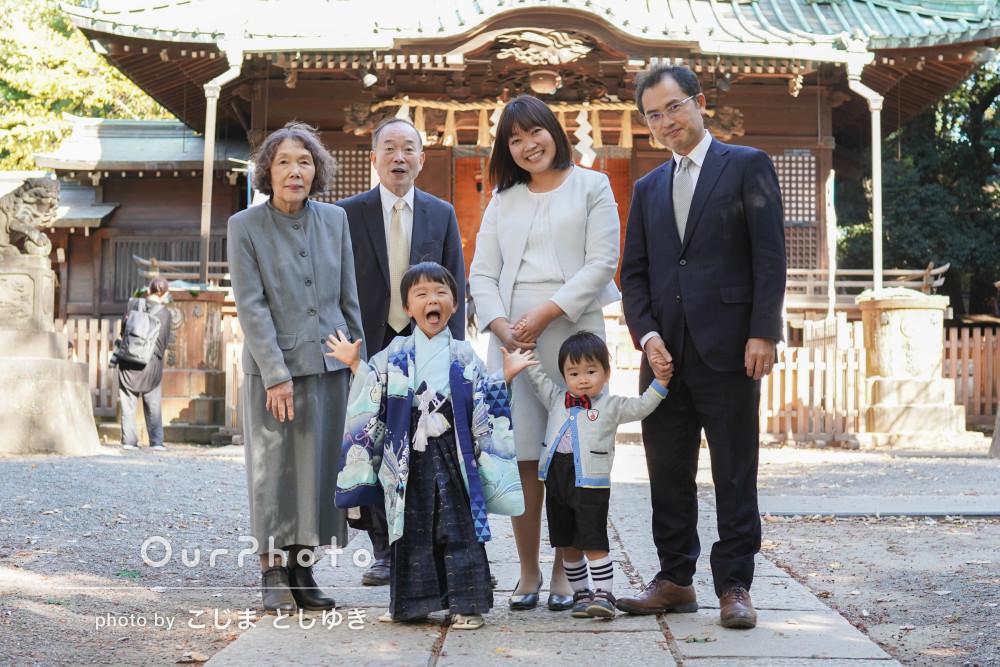 「とても素敵に家族写真を撮っていただきありがとう」七五三写真の撮影