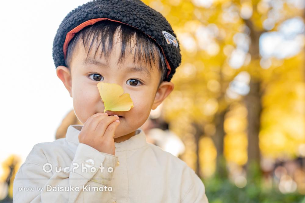 「素敵な写真をありがとう」たくさんの秋を見つけた!家族写真の撮影