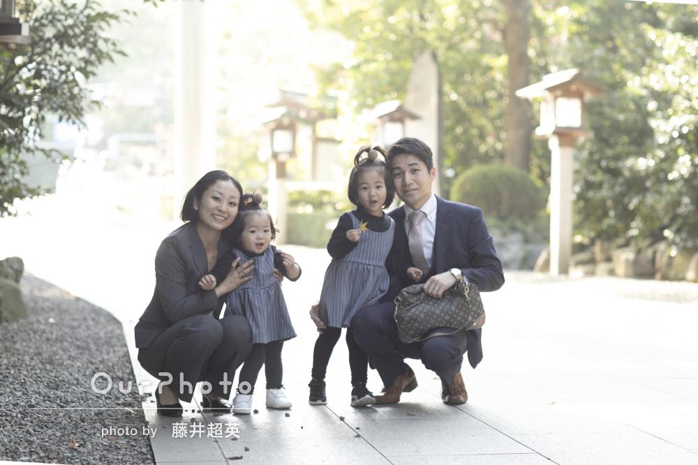 「子供たちの笑顔を引き出そうと終始笑顔で向き合って」姉妹の七五三撮影