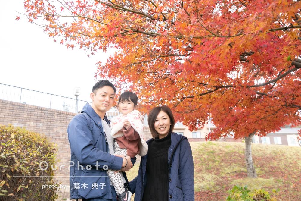 「楽しそうに撮って下さるので、私たちも自然体で」家族写真の撮影