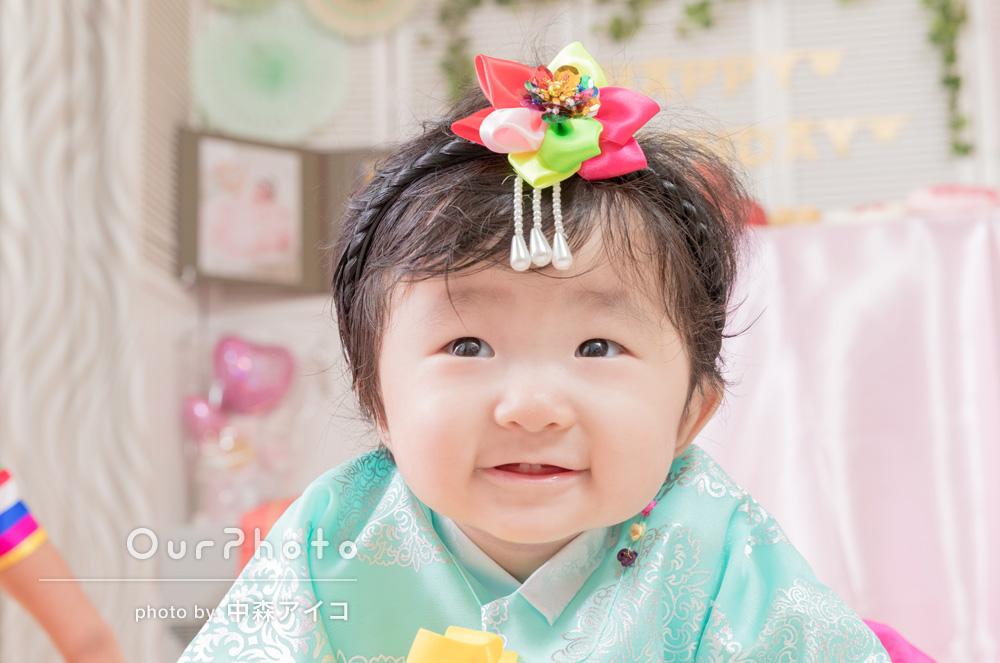 娘の1歳の誕生日会で撮影してほしい!ご自宅での家族写真の撮影