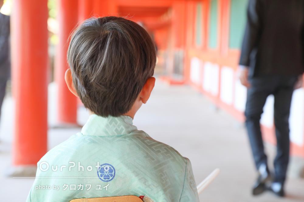「柔らかい光でとても綺麗」優しい雰囲気での男の子の七五三の撮影