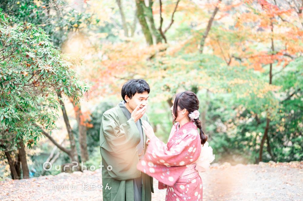 「とても綺麗で満足度が非常に高い」着物でカップル写真の撮影