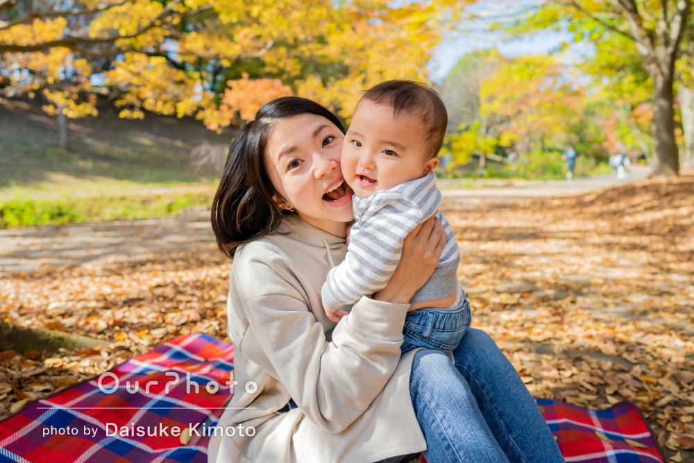 「とても優しくリードしてくださり笑顔を引き出し」家族写真の撮影