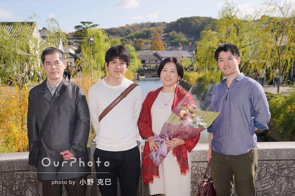 「親切な撮影会に家族も満足しています」還暦祝いの家族写真撮影
