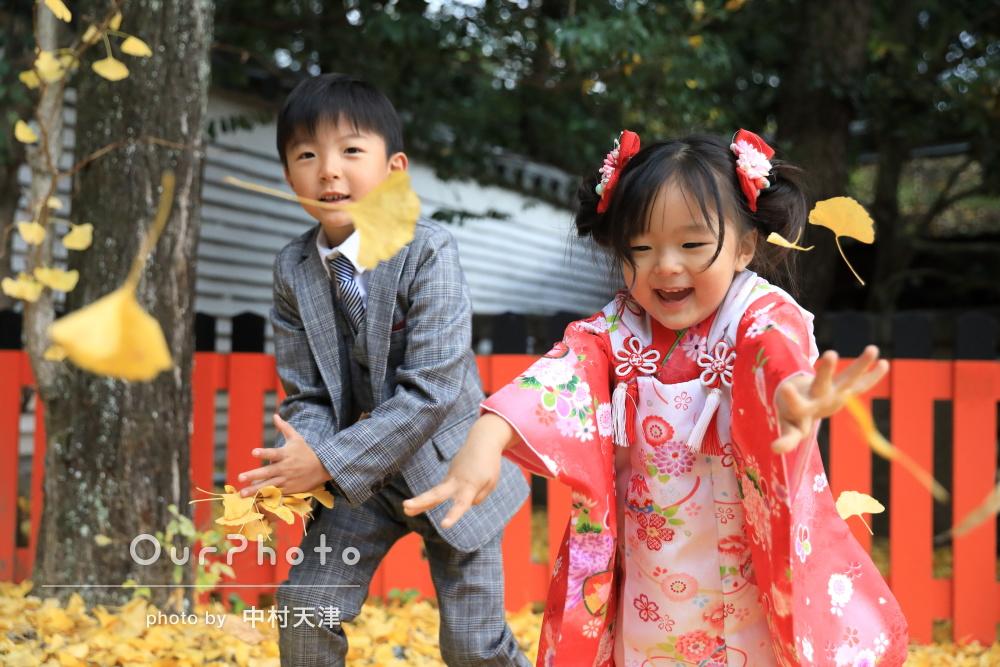 「すごく自然で笑顔全開なお写真を」躍動感のある3歳の七五三撮影