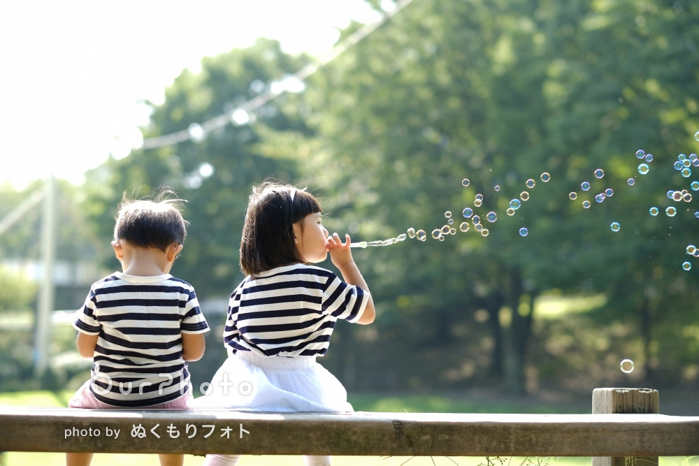 毎年スタジオ撮影する家族写真、今年はOurPhotoの出張撮影で!
