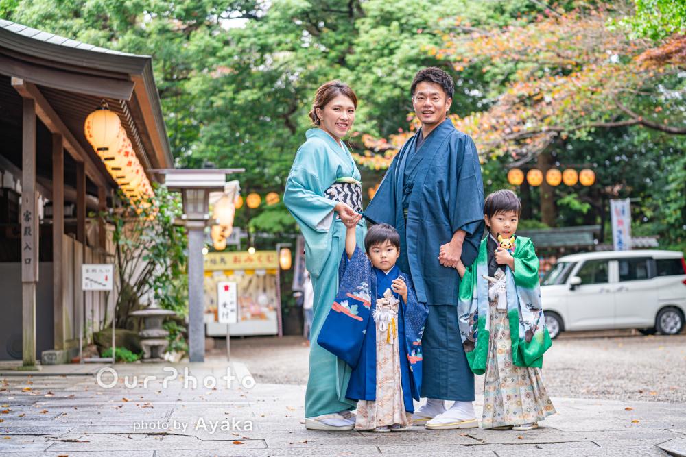 「色々気を遣ってくださった」家族みんなで和装の七五三写真の撮影