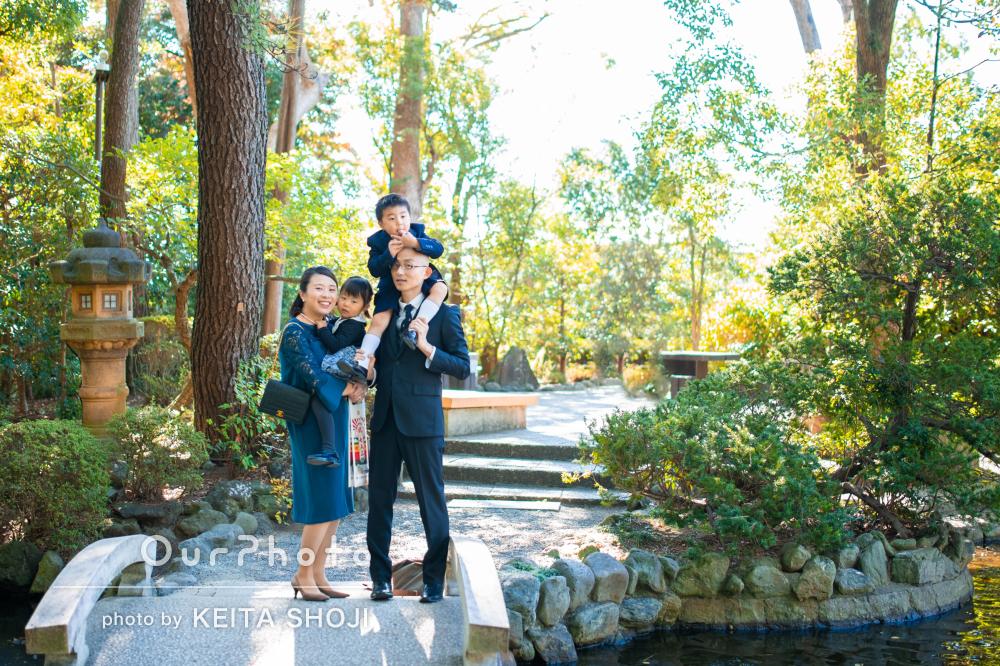 「とてもいい写真ばかりで感動」洋装で3歳5歳の兄妹の七五三を撮影