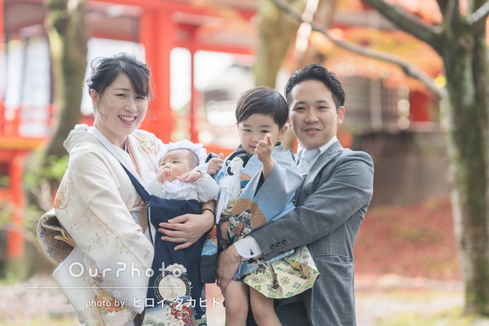 「家族みんなリラックスして満足のいく撮影」お宮参りと七五三の記念写真