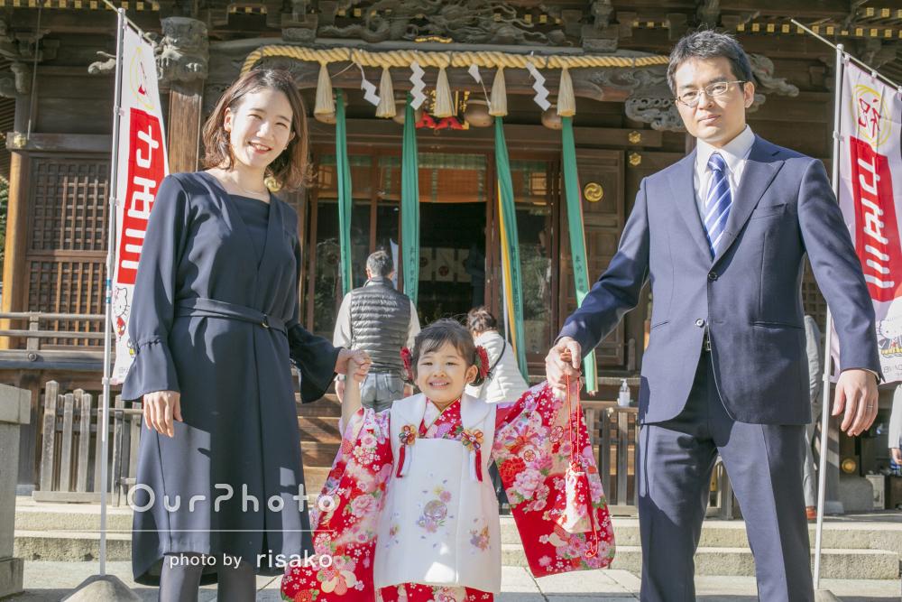お嬢様の成長を家族そろって喜び祝う最高の七五三写真撮影