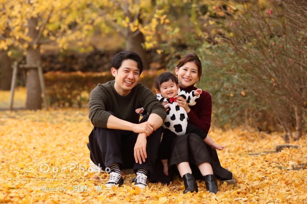 「楽しく写真撮影」干支姿で年賀状にピッタリな家族写真の撮影