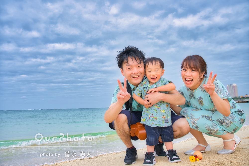 「子供の心を掴むのが上手く、こんなに綺麗な写真を頂き」家族写真の撮影
