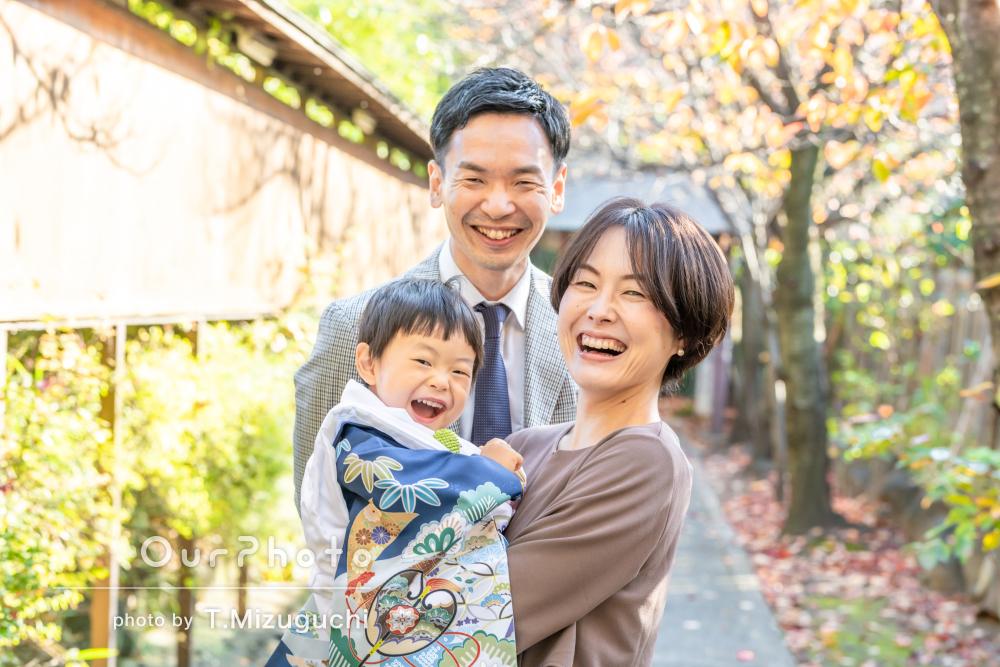 「家族だけでは絶対撮れない笑顔いっぱいの写真」七五三の撮影